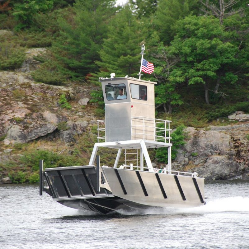 26 ' Foot Custom-built aluminum barge by Stanley Boats