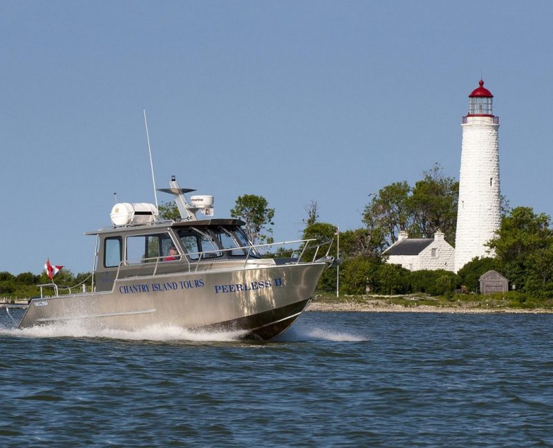 Welded Aluminum Passenger Tour Boat Built by Stanley Boats for Chantry Island Tours located in Ontario, Canada