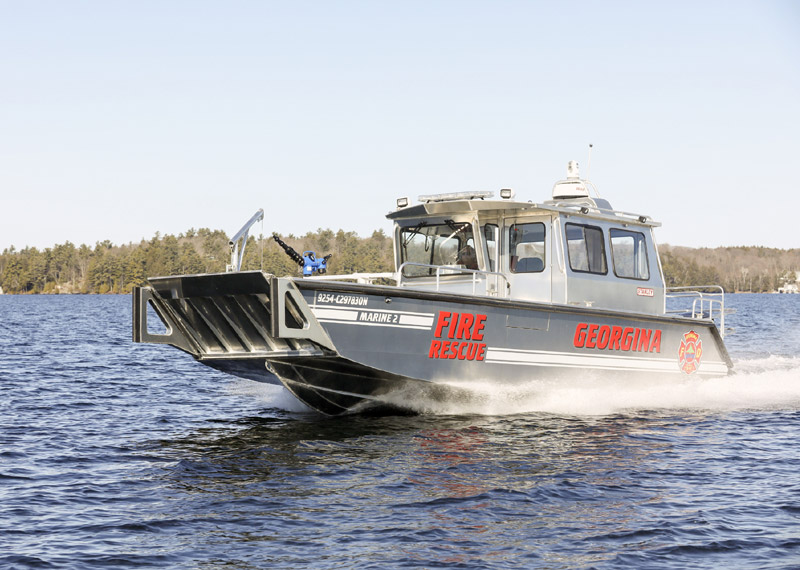 32'-Bullnose Fire Rescue Boat Landing Craft . Recommended for: firefighting, rescue, recovery; all-weather assignments.