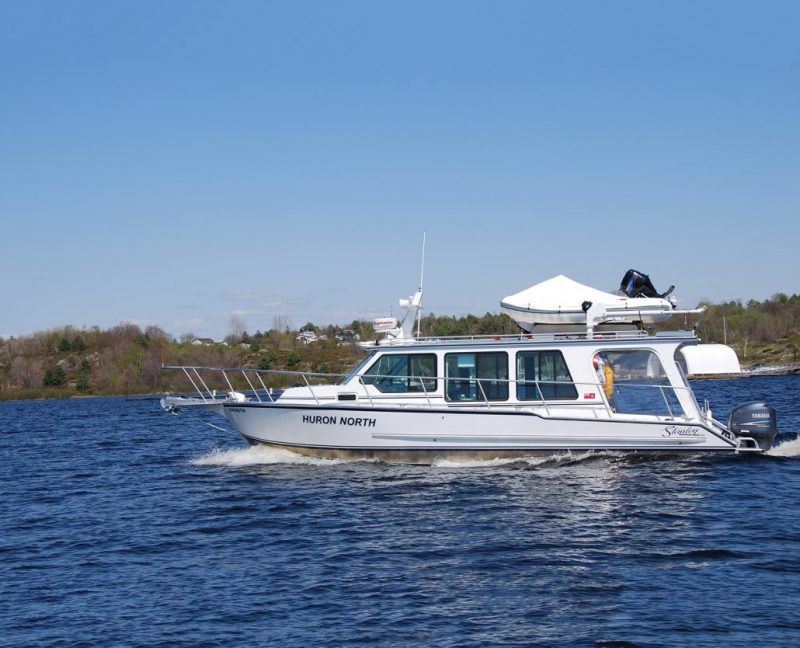 38' Huron North heavy aluminum passenger excursion and sightseeing boat; built by Stanley Boats