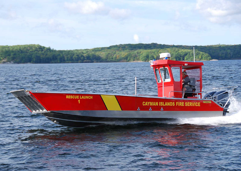 Landing Craft - Fire Rescue Boat built for multi-mission emergency operations in both open water and shallow water.