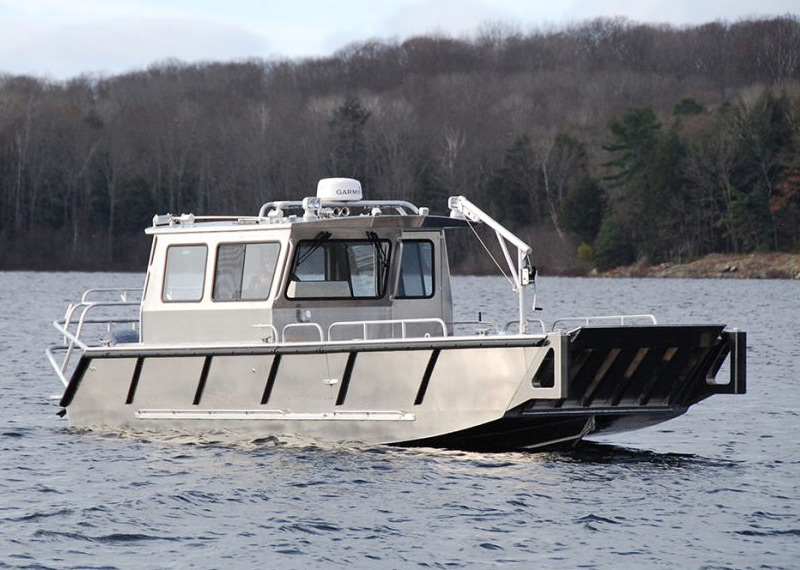 Custom welded aluminum landing craft vessel built for commercial applications