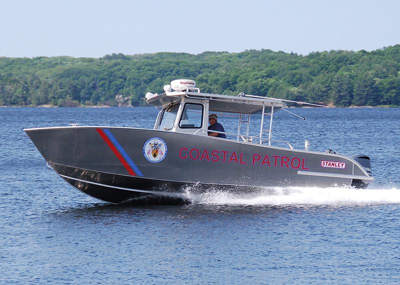 31' Coastal Patrol Vessel ideal for high-speed patrol, pursuit, intercept, coast, port, and harbor security.
