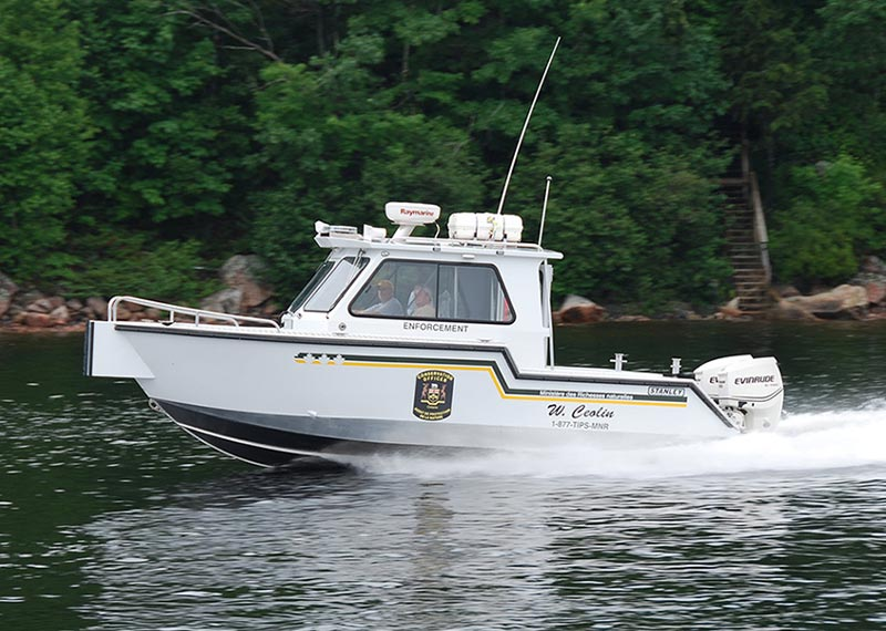 Patrol Boat for Fish and wildlife conservation. Ideal aluminum boats for the Great Lakes, Coastal Waters and Bays throughout North America.