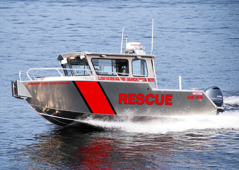 Fire Rescue Boat - Cruiser manufactured for the Canadian Coast Guard Auxiliary in Gjoa Haven, Nunavut.